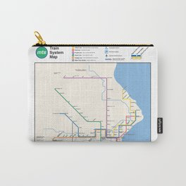Milwaukee Transit System Map Carry-All Pouch