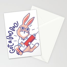 Bunny Doctor Funny Gift Idea Stationery Cards