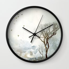 Loch Lovely Abstract Art in Teal Wall Clock