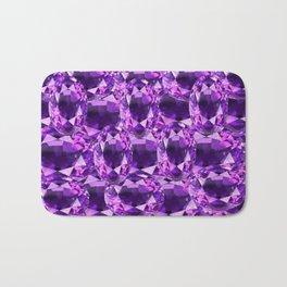 February Babies Purple Amethyst Gems Abstract Bath Mat