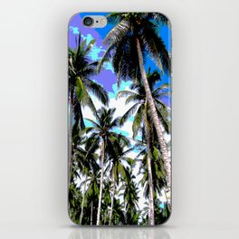 Palm Trees in a Posterised Design iPhone Skin