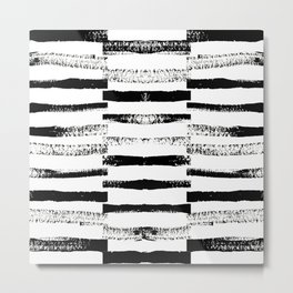 Sketchy Stripes Metal Print
