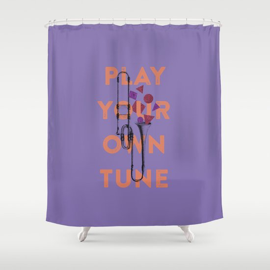 Play you own tune Shower Curtain