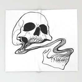 Skull #10 (Grind) Throw Blanket