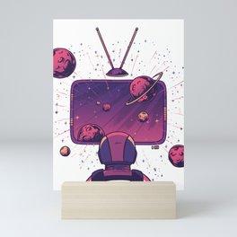 Space TV Mini Art Print