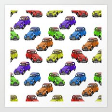 2cv pattern small Art Print