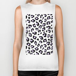 Leopard Print - Lavender Blush Biker Tank
