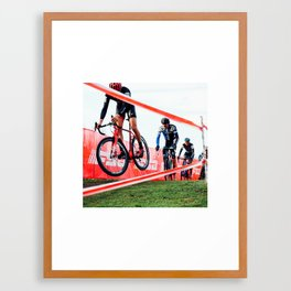 Cyclocross: Hover Framed Art Print