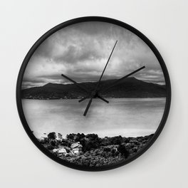 Lagoon Shadows Wall Clock