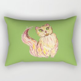Red Persian Cat Rectangular Pillow
