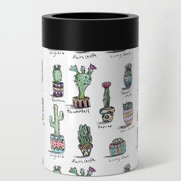 Cactus and Succulent Pattern Can Cooler