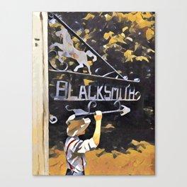 To the Blacksmiths Canvas Print