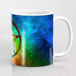 Galaxy Pentagram Pentacle Design - Spiritual Space Artwork Coffee Mug