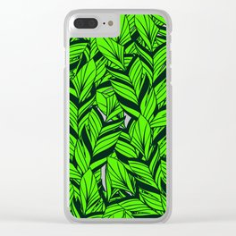 Jungle Banana Leaves Pattern Clear iPhone Case