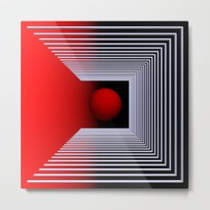 experiments on geometry -2- Metal Print
