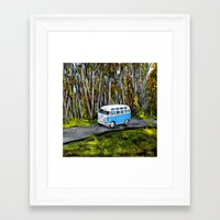 vw bus Framed Art Prints featuring VW Bus by ThisArtToBeYours