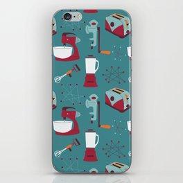 Retro Kitchen - Teal and Raspberry iPhone Skin