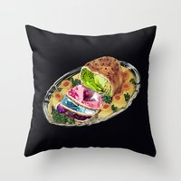 gem Throw Pillows featuring Gem Roast by Eugenia Loli