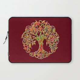 Tree of Life Maroon Laptop Sleeve