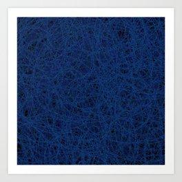 Slate Blue Thread Texture Abstract Art Print