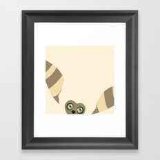 Curious Momo Framed Art Print