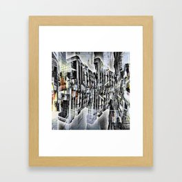 Tuesday 8 October 2013: Particularly emphasized segmentation and cohesion. Framed Art Print