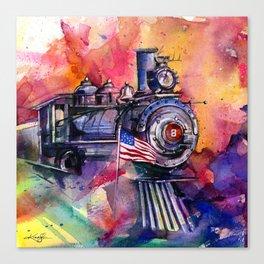 American Train by Kathy Morton Stanion Canvas Print
