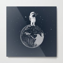 Salutation from Earth Metal Print