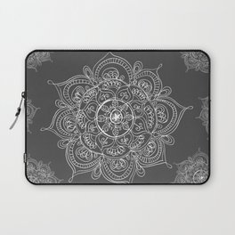 Gray mandala Laptop Sleeve