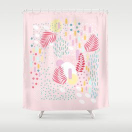 Organic Nature - Colourful Doodle Pattern 4 Shower Curtain