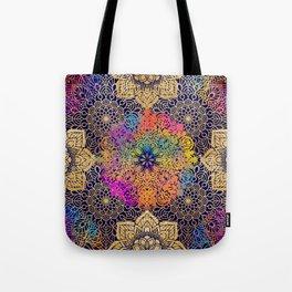 Bohemian 1960's Mandala Pattern of Joy Tote Bag