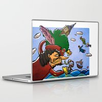 peter pan Laptop & iPad Skins featuring Peter Pan by -PAPER HEART-