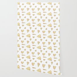 Perfect Pizza Slices! Pattern of Joy Wallpaper