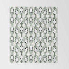 Retro-Delight - Double Drops - Mint Throw Blanket