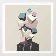 Queen of Cubes Art Print