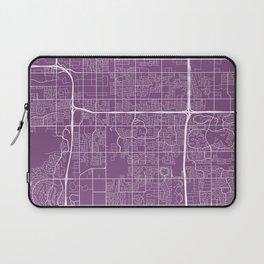 Tempe Map, USA - Purple Laptop Sleeve