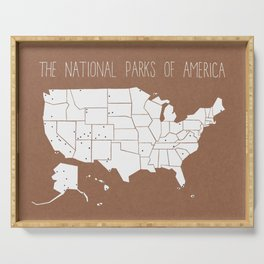 The Hand-Painted National Parks of America Serving Tray