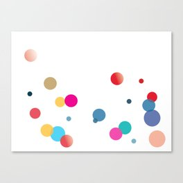 Beauty and the bubbles Canvas Print