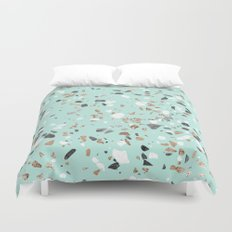 Glitter and Grit Marble Mint Green Duvet Cover
