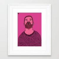 the dude Framed Art Prints featuring Dude by rbengtsson