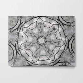 Maine Maple Mandala Metal Print