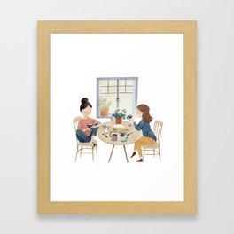 A Friendly Chat Framed Art Print