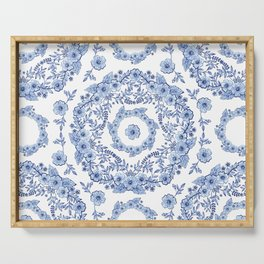 Blue Rhapsody on white Serving Tray