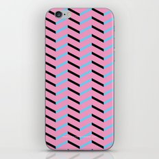 Blue and Black Chevron on Hot Pink iPhone & iPod Skin