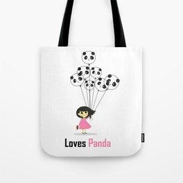 Girl Loves Panda T-Shirt - Panda Lovers T-Shirt For Women Tote Bag
