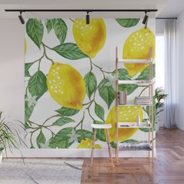TROPICAL LEMON TREE Wall Mural