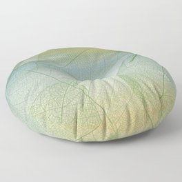 Delicate Painterly Leaves Floor Pillow