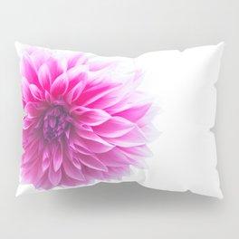 Dahlia On White Pillow Sham