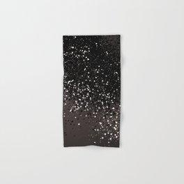Blush Gray Black Lady Glitter #2 #shiny #decor #art #society6 Hand & Bath Towel