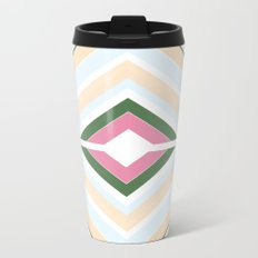 Mod stripes in Sorbet Metal Travel Mug